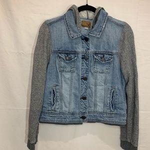 America Eagle Jean jacket faux  sweatshirt